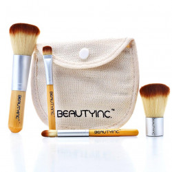 Beauty Inc. Vegan Line Selfie Ready 4pcs Travel Bamboo Brush Set