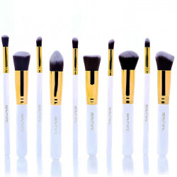 Beauty Inc. Professional Kabuki Brush Set 10pcs White