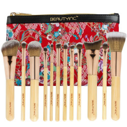 Beauty Inc. Premium Collection Boho Chic 12pcs Makeup Brush Set