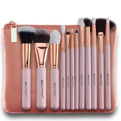 Beauty Inc. Premium Collection Glam en Rose 12pcs Makeup Brush Set
