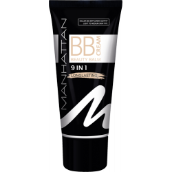 Manhattan 9 in 1 Longlasting BB Cream Spf25 Light to Medium 30ml
