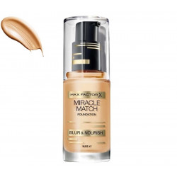 Max Factor Miracle Match Shade-Matching Foundation 47 Nude 30ml