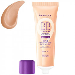 Rimmel London 9-in-1 Beauty Balm BB Cream Matte SPF15 Medium 30ml