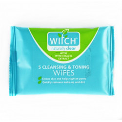 Witch Cleansing & Toning Wipes Pack of 5 Wipes
